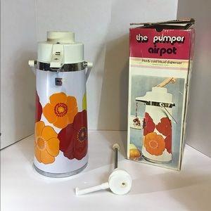 Vintage Floral The Pumper Airpot